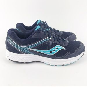 Saucony Grid Cohesion 10 Running Shoes Blue/Silver